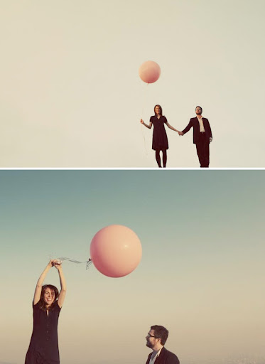 Max Wanger Balloon Engagement Photos