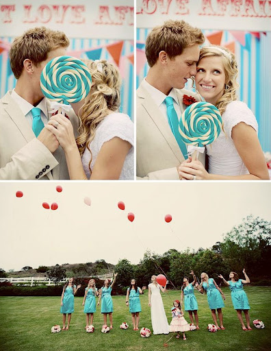 carnival wedding photos lollipops