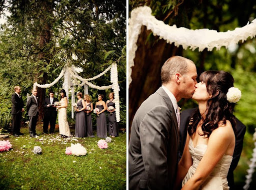 Love this beautiful ceremony site they created wedding