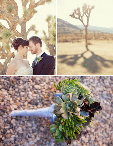 Joshua Tree Wedding succulent bouquet