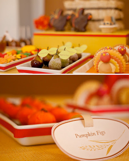 thanksgiving dessert table by amy atlas with pears