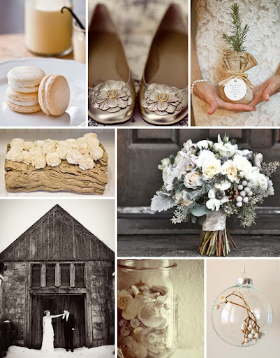 winter barn wedding with buttons, lace and pine