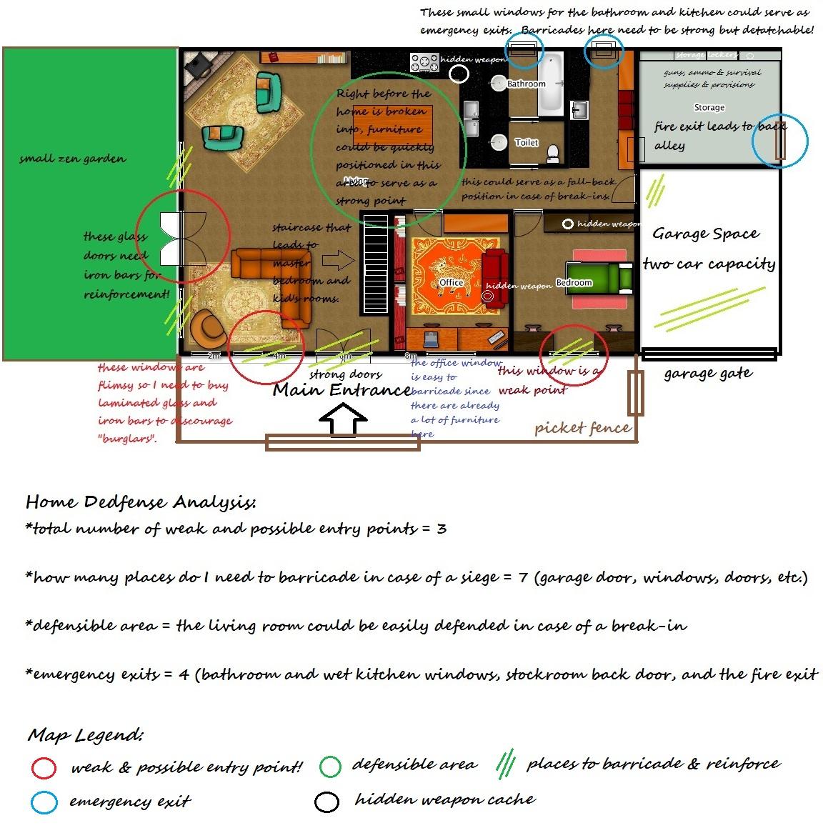 Home+Defense+Analysis+2 the zombie hunter a survivalist's journal november 2010,Home Defense Floor Plans