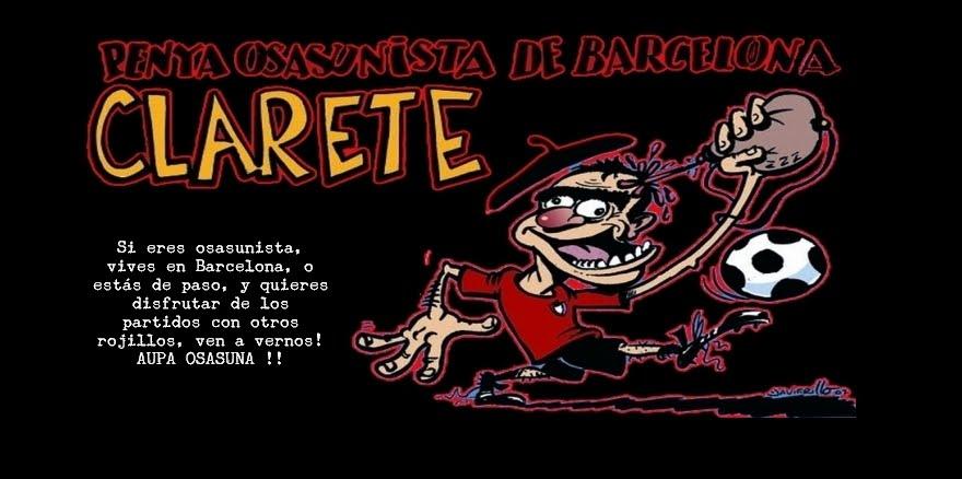 """PENYA OSASUNISTA """"CLARETE"""" DE BARCELONA"""