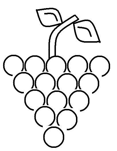 desenhos para colorir desenho de uva para imprimir uva para