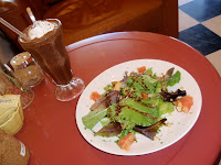 House Salad & Chocolate Strawberry Lush