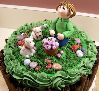Whimsy Creative Cakes and Cupcakes: Flower garden birthday cake