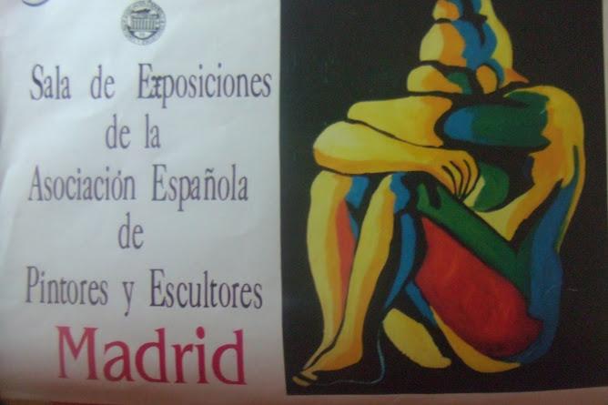 PORTADA CATALOGO EXPOSICION INDIVIDUAL EN LA ASOCIACION ESPAÑOLA DE PINTORES Y ESCULTORES-MADRID