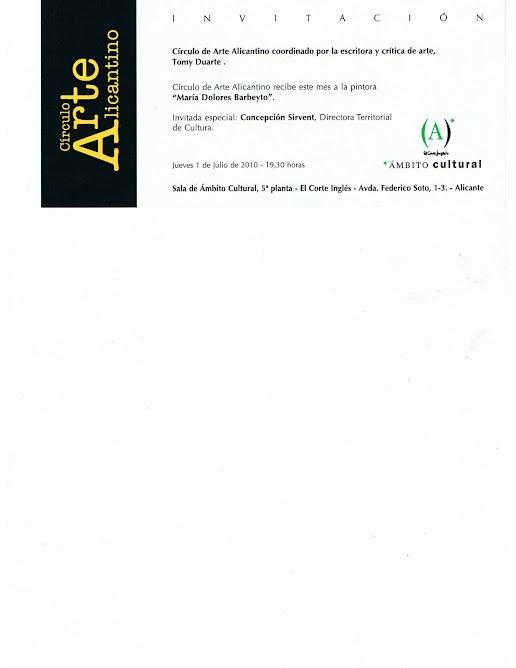 COFERENCIA  DE BARBEYTO EN EL CORTE INGLES DE ALICANTE-AMBITO CULTURAL