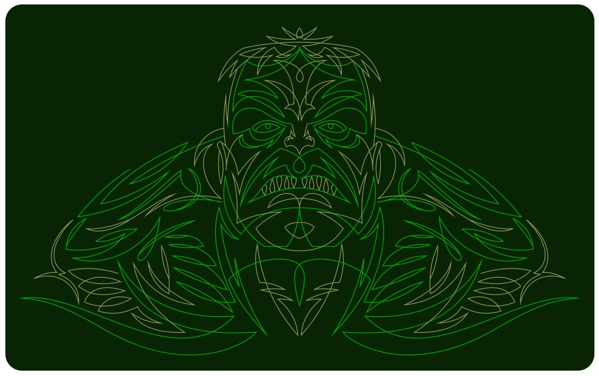 hero, Hulk, pinstriping,