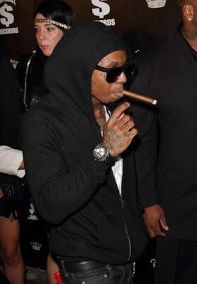 Imagen de Lil Wayne en la fiesta de bienvenida