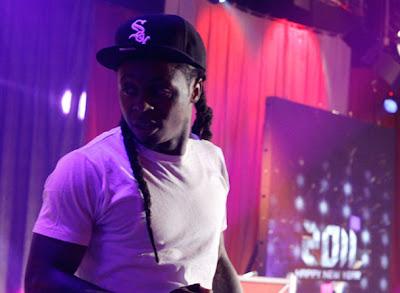 Imagen de Lil Wayne en la actuadion de 106 & Park
