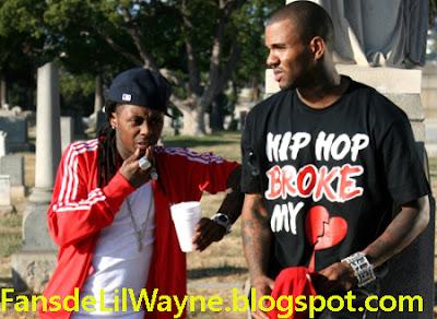 Imagen de The Game y Lil Wayne en el rodaje de My Life