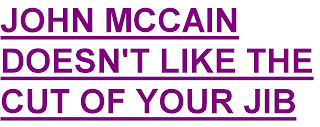 John McCain doesn't like the cut of your jib