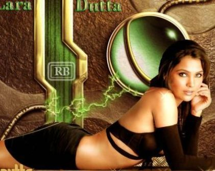 lara dutta breast