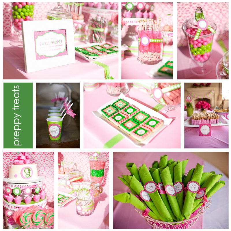 georgia and ivy pink and green birthday party. Black Bedroom Furniture Sets. Home Design Ideas
