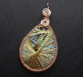 String art pendant tutorial the beading gems journal the pendant above is my first attempt generally following the video instructions given by camille sharon its rather abstract in design mozeypictures Choice Image