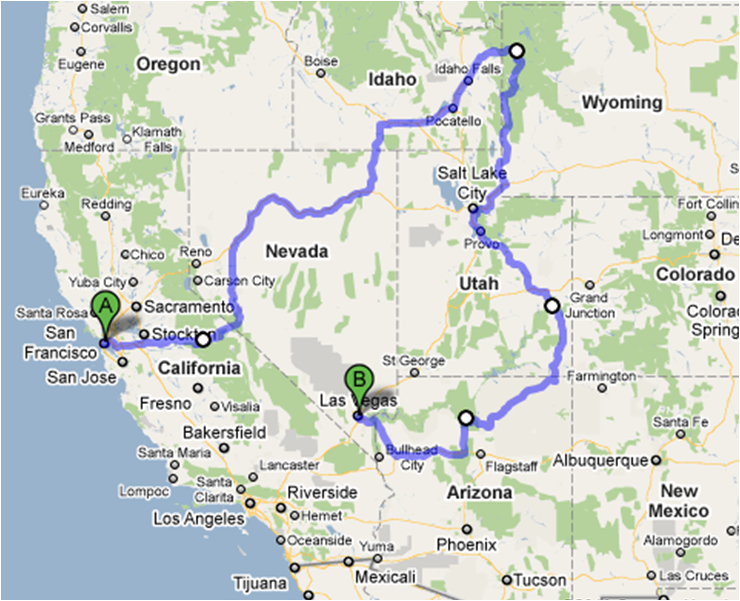 Tourist Map Southwest Usa