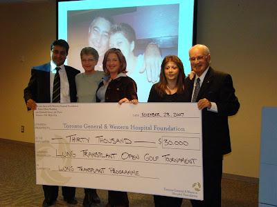Transplant Open Golf check presentation
