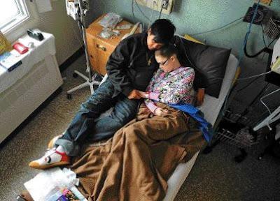 Jessica Mogg in hospital