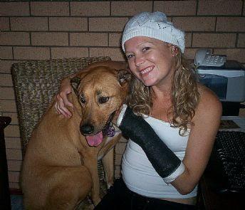 Kate Green and dog Zeena