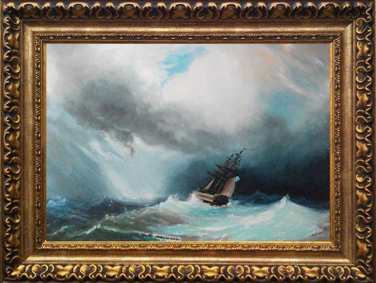 Aivazovski copy with frame