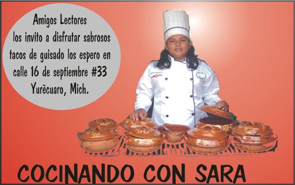 COCINANDO CON SARA