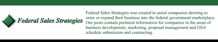 Federal Sales Strategies