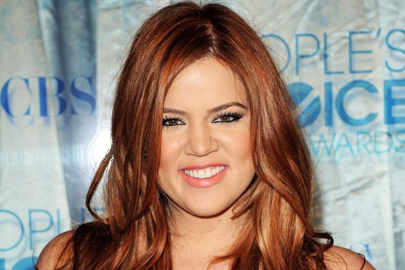 khloe kardashian red hair 2011