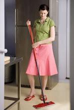 el piso limpio