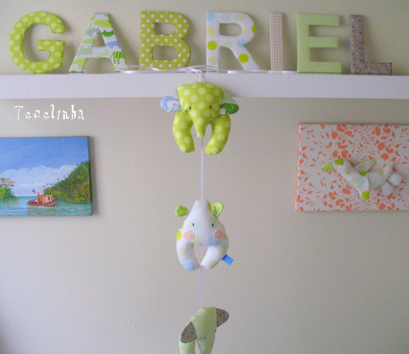 Letras De Tecido Para Quarto De Bebe ~ Tecelinha Letras e M?bile para Luciana!