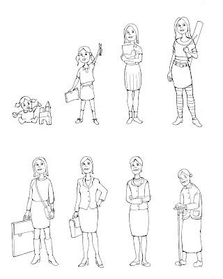 Ilustraciones y Cómics: Evolución de personajes