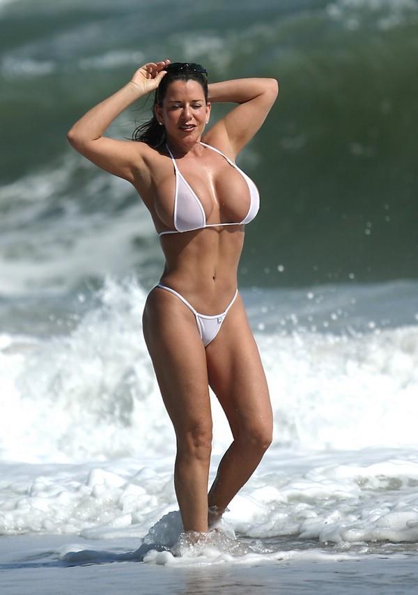 See Thru White Bikini 69
