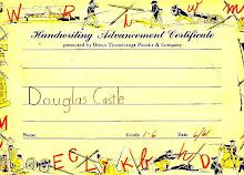 First Grade Penmanship Award