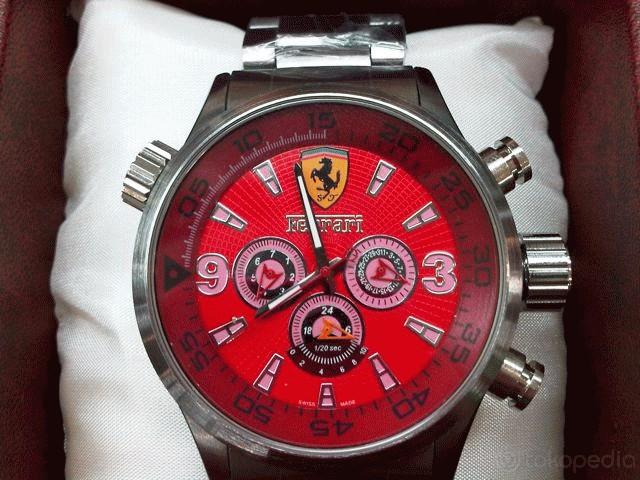 jam tangan Ferari red sporty matic..jam tangan yang sangat banyak di minati  di indigosneakers..karna jam yang keren dan tampilan lux banget...jam ini  ... c34d8a9d54