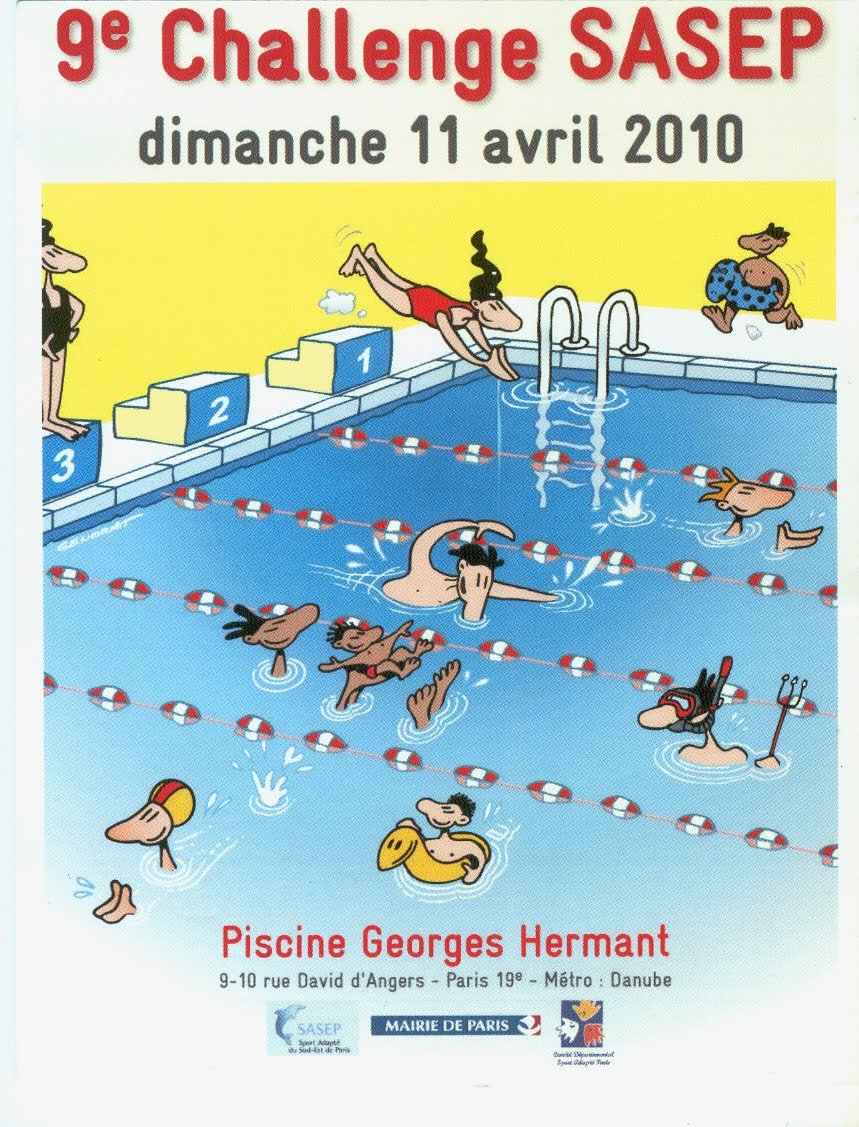 Association handisport de paris meeting de natation 2009 for Piscine georges hermant