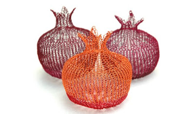 wire crochet pomegranates