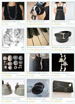 black etsy treasury