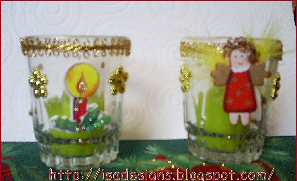 Dise os isa porta velas navide as recicladas - Porta velas navidenas ...