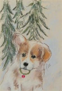 First Christmas - Corgi Puppy