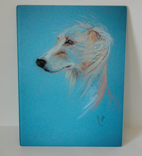 Saluki Glass Cutting Board By Cori Solomon
