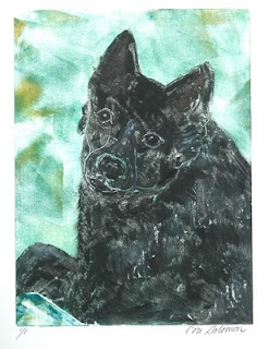 Schipperke Dog Art Doting Eyes by Cori Solomon