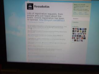 Foss.in twitter feed