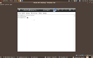 Ubuntu Mobile Internet Device (MID) Gnome Terminal running python