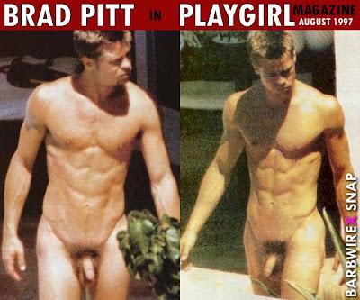 Brad pitt naked playgirl magazine