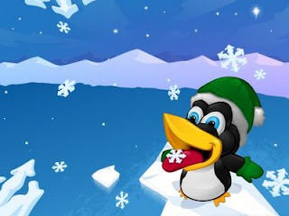 penguin's Family Christmas Wallpapers