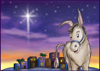 christmas donkey wallpaper