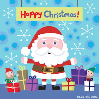 Cute Santa Cartoon Wallpaper