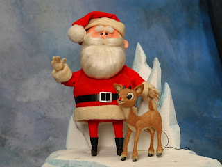 Santa And Rudolph Wallpaper