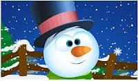 Free Animated Snowman Wallpaper